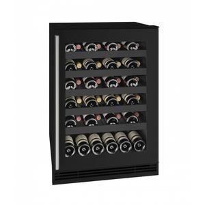 "U-LineHwc124 24"" Wine Refrigerator With Black Frame Finish (115v/60 Hz Volts /60 Hz Hz)"