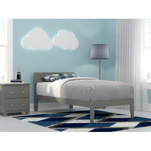 Boston Twin Bed in Grey
