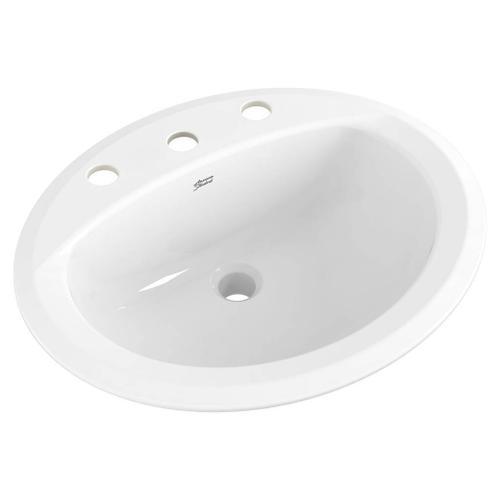 American Standard - reliant-oval-drop-in-bathroom-sink-8-in-widespread-holes-54010 - White
