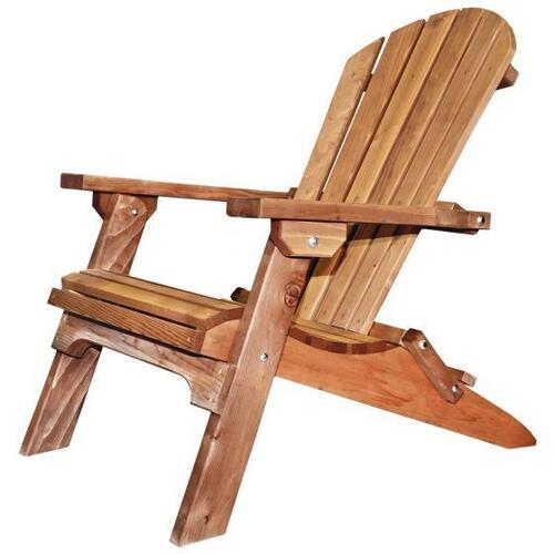 Montana Collection Folding Cedar Adirondack Chair with Exterior Stain