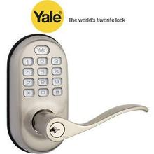 Nickel Push Button Lever Lock