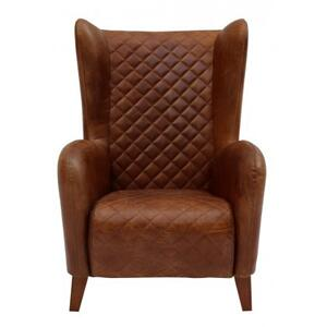 Vintage Leather Tufted Chair