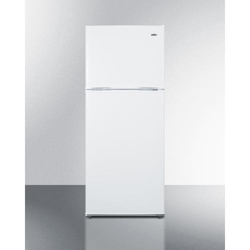 """24"""" Wide 9.9 CU.FT. Frost-free Refrigerator-freezer In White Finish With Factory Installed Icemaker"""
