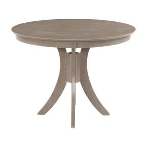 36'' H Siena Pedestal Table in Taupe Gray