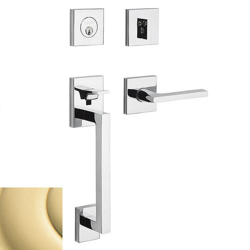 Non-Lacquered Brass Minneapolis Sectional Handleset