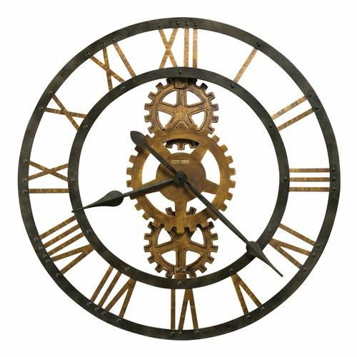 Howard Miller Crosby Metal Gear Wall Clock 625517