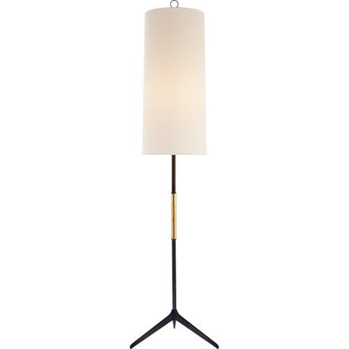 AERIN Frankfort 60 inch 100 watt Aged Iron Floor Lamp Portable Light