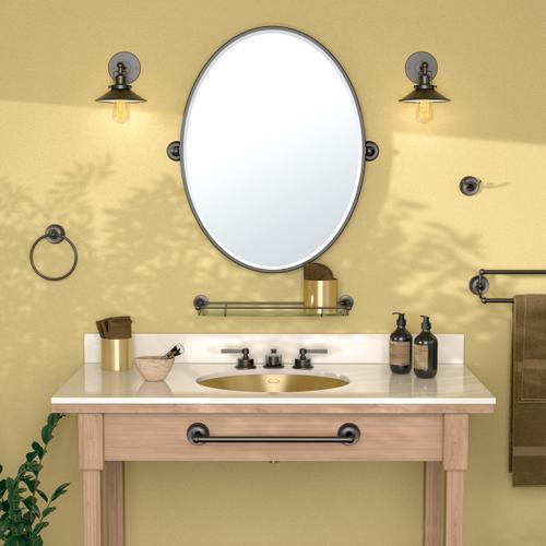 Designer II Framed Oval Mirror in Chrome