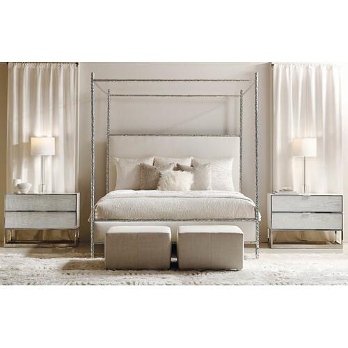 King Odette Upholstered Canopy Bed