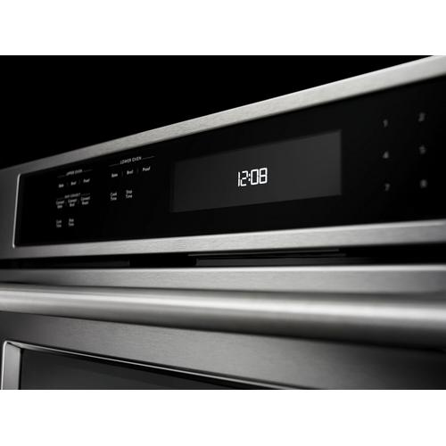 """KitchenAid - 27"""" Double Wall Oven with Even-Heat™ True Convection (Upper Oven) Stainless Steel"""