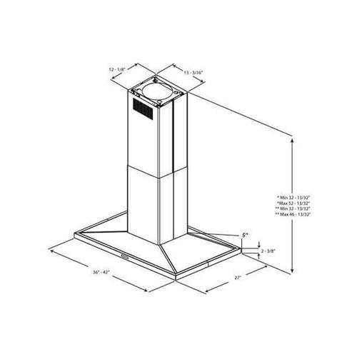 """Optional Recirculating Kit for 36"""" and 42"""" Unit"""