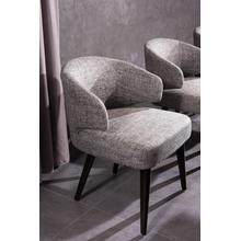 View Product - Modrest Carlton Modern Grey Fabric Dining Chair