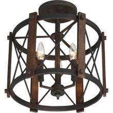 View Product - Baron Semi-Flush Mount in Marcado Black