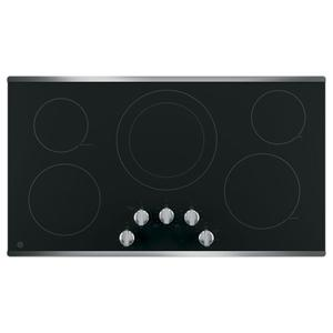 """GE36"""" Built-In Knob Control Electric Cooktop"""