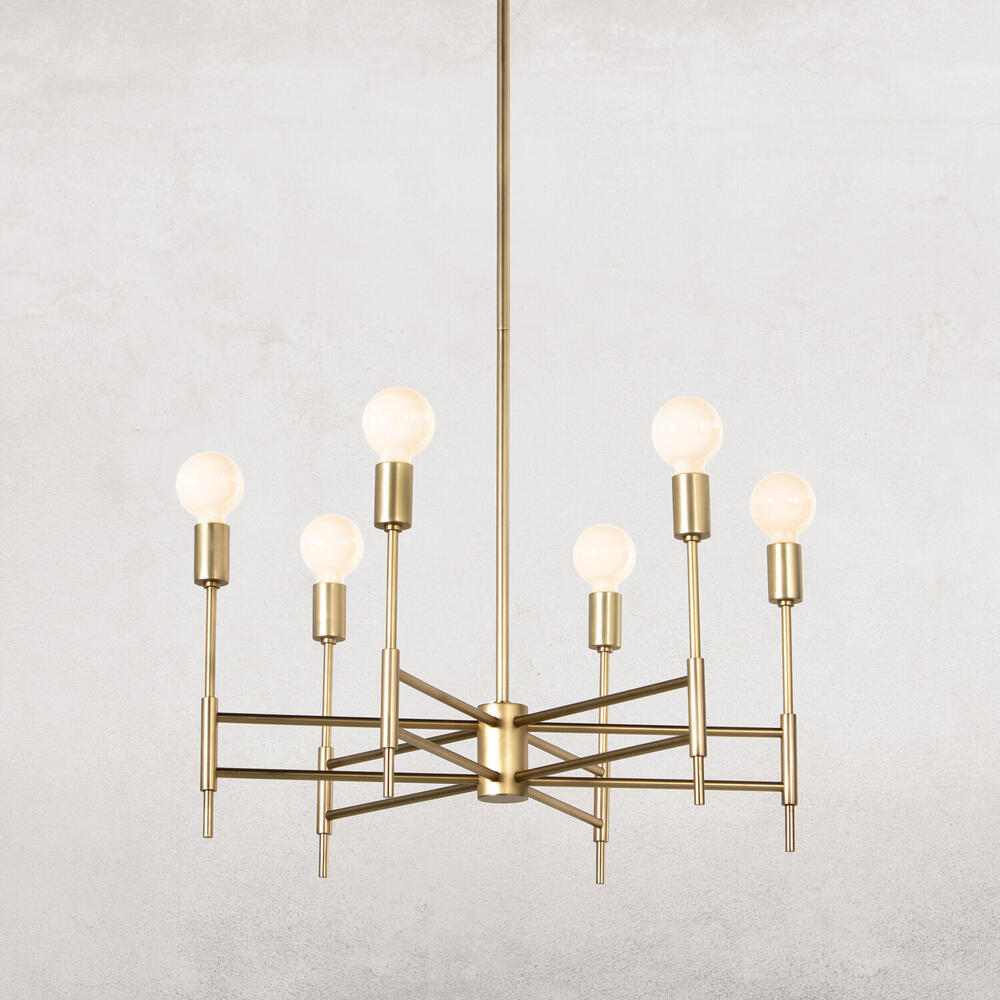 See Details - Spoke Chandelier-aged Brass