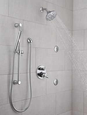 Chrome HydraChoice ® Body Spray - H 2 Okinetic ® Massaging Spray Head Product Image