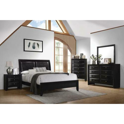 Briana Black Transitional California King Bed