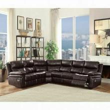 ACME Lavinia Sectional Sofa (Motion) - 53955 - Espresso Leather-Aire