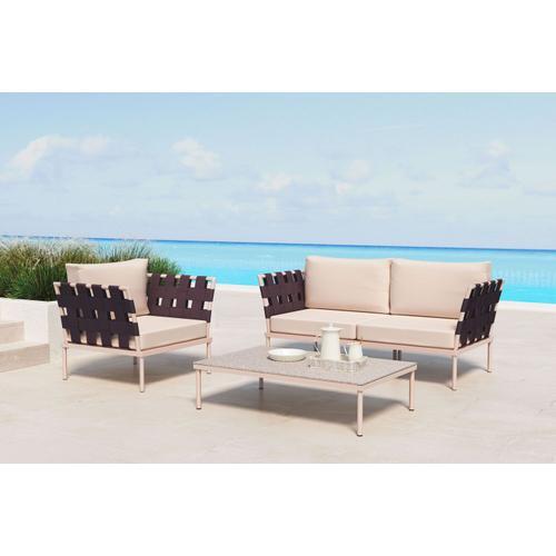 Zuo Modern - Glass Beach Armside/backrest Taupe & Brown