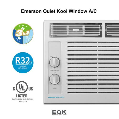Emerson Quiet Kool - Emerson Quiet Kool Window Air Conditioner,5000 BTU with 7 Temperature Settings and 2 Fan Speeds,8-way Airflow, EBRC5MD1