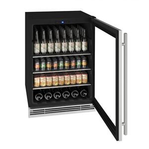 "U-LineHbv024 24"" Beverage Center With Stainless Frame Finish (115 V/60 Hz Volts /60 Hz Hz)"