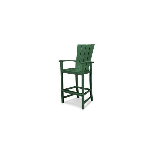 Polywood Furnishings - Quattro Adirondack Bar Chair in Green