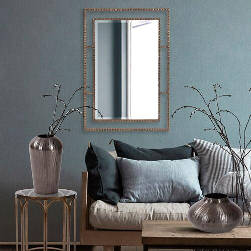 Howard Elliott - Carbon Gray Round Chiseled Aluminum Vase