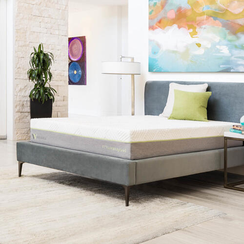 RED HOT BUY - Be Happy! Wellsville 11 Inch Latex Hybrid Mattress Split Queen