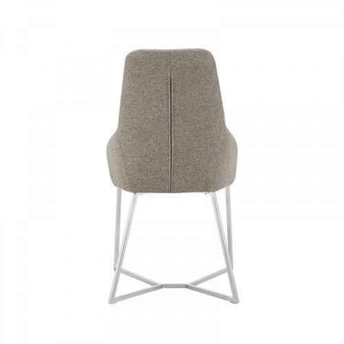 VIG Furniture - Stark - Modern Light Grey Fabric Dining Chair (Set of 2)