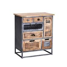 See Details - Chest - Natural/Iron Finish