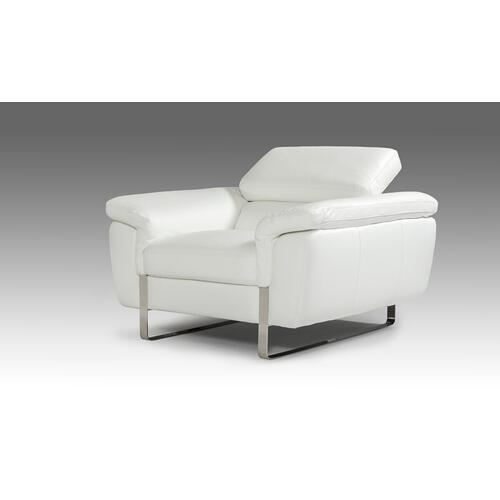 VIG Furniture - David Ferarri Highline Italian Modern White Top Grain Leather Sofa Set