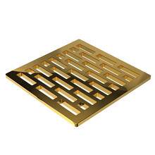 "Polished Gold - PVD 4"" Square Shower Drain"