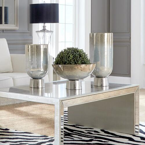 Howard Elliott - Round Grotto Glass Footed Vase - Large