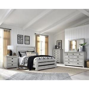 Dresser \u0026 Mirror - Gray Chalk Finish