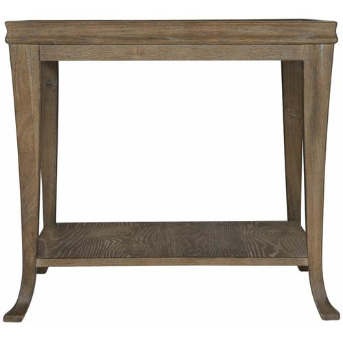 Rustic Patina End Table in Peppercorn (387)
