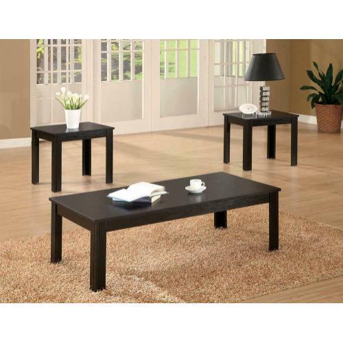 Transitional Black Three-piece Set