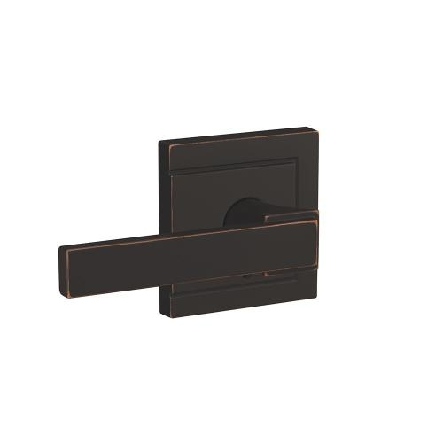 Custom Northbrook Lever with Upland Trim Hall-Closet and Bed-Bath Lock - Aged Bronze