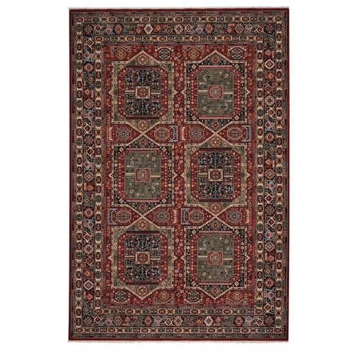 """Gallery - Lineage-Qashqai Red Navy - Rectangle - 3'11"""" x 4'11"""""""