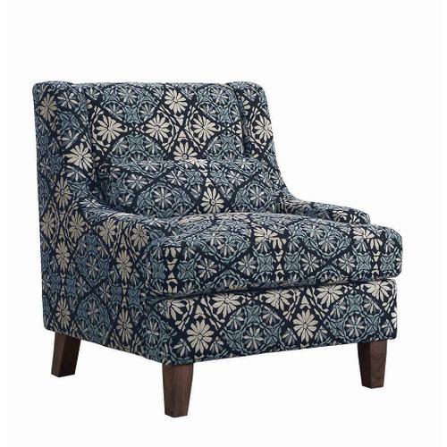 Coltrane Transitional Indigo Accent Chair
