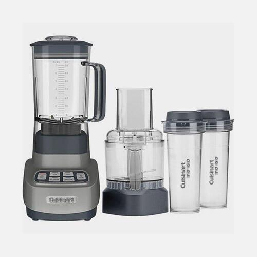 Cuisinart - VELOCITY Ultra Trio 1 HP Blender/Food Processor with Travel Cups