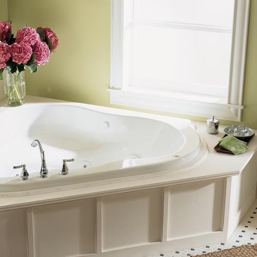 American Standard - Evolution 54x54 inch EverClean Corner Whirlpool - Linen