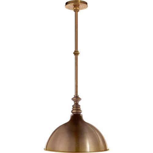 E. F. Chapman Boston 1 Light 13 inch Hand-Rubbed Antique Brass Pendant Ceiling Light