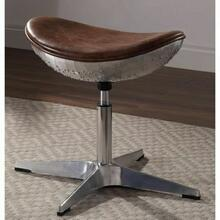 ACME Brancaster Stool - 96160 - Retro Brown Top Grain Leather & Aluminum