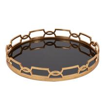 View Product - Kyron Round Metal Tray