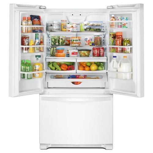 Whirlpool - 36-inch Wide French Door Refrigerator with Crisper Drawer - 25 cu. ft.