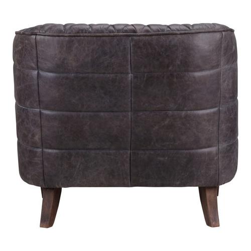 Moe's Home Collection - Magdelan Tufted Leather Arm Chair Antique Ebony
