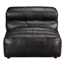 Ramsay Leather Slipper Chair Antique Black