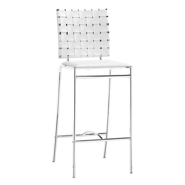 See Details - Criss Cross Counter Chair White