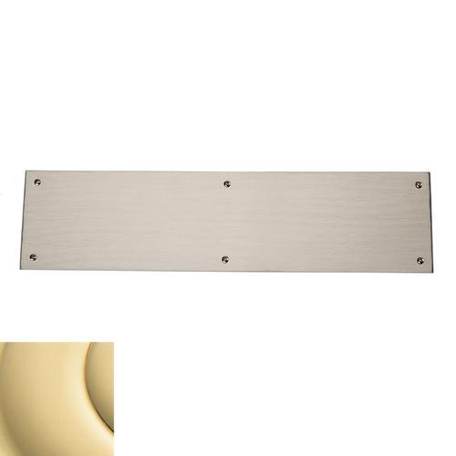 Baldwin - Non-Lacquered Brass Square Edge Push Plate