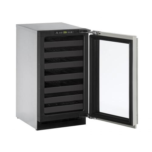 "U-Line - 2218wc 18"" Wine Refrigerator With Stainless Frame Finish (115 V/60 Hz Volts /60 Hz Hz)"